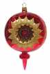 Reflector, Three Punctures, Red & Gold Ornament by Glas-Bartholmes