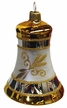 Gold & White Bell Ornament by Glas-Bartholmes