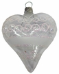 Heart, Transparent White Rings and Screw Design Reflector Ornament by Glas-Bartholmes