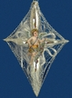 Angel on Cross Antique Style Ornament by Nostalgie