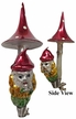 Mushroom Gnome, Antique Style Ornament by Nostalgie
