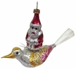 Santa on Bird Antique Style Ornament by Nostalgie-Christbaumschmuck UG