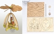 Make it Yourself Mini Forest Animals Pyramid Kit by Drechslerei Kuhnert