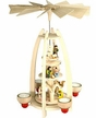 Nativity Three Tier Tealight Pyramid by Graupner Holzminiaturen in Crottendorf-Erzgebirge