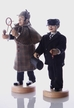 Two Piece Set, Holmes and Watson with Hand Carved Head & Hands Smokers by Miriquidi-art in the Erzgiberge