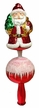 Shiny Red Santa Tree Topper by Glas-Bartholmes