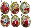 Burgundy with Bunny Egg by Peter Priess Kunstgewerbe - $9 Each
