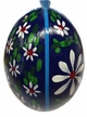 Blue Duck Egg with Flowers