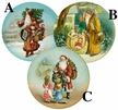 "Time for Presents 10cm (4"") Decoupage Cardboard German Christmas Balls by Nestler - $7.50 Each"
