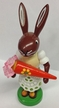 Rabbit with Sweets Wooden Figurine by Thomas Preissler