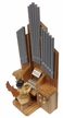 Angel Playing the Pipe Organ Wood Figurine by Drechslerei Kuhnert