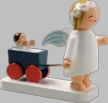 Snowflake Angel with Carriage Wooden Figurine by Wendt und Kuhn
