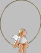 Snowflake Angel on Ring Wooden Ornament by Wendt und Kuhn
