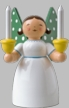 Angel with Two Candles Wooden Figurine by Wendt and Kuhn
