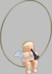 Snowflake Angel on Ring with Clarinet Wooden Ornament by Wendt und Kuhn