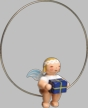 Snowflake Angel on Ring with Gift Wooden Ornament by Wendt und Kuhn