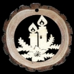 Two Candles Wood Ornament by  Wandera GmbH