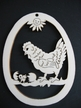 Hen with Chick Wood Ornament by Wandera GmbH