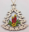 Tree with Candles Wood Ornament by  Wandera GmbH