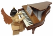 Angel Playing the Piano Wood Figurine by Drechslerei Kuhnert