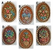 Hand Painted Wax Medallion Ornaments by K�HN - $9 Each