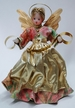 Wax Angel in Pink & Green Dress with Gold Apron and Braided Hair by Margarete & Leonore Leidel in Iffeldorf