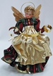 Wax Angel in Red & Green Dress with Gold Apron and Braided Hair by Margarete & Leonore Leidel in Iffeldorf