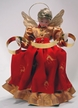 Wax Angel in Red Dress with Gold Apron and Braided Hair by Margarete & Leonore Leidel in Iffeldorf