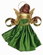 Wax Black Angel with Green & Gold Dress by Margarete & Leonore Leidel in Iffeldorf