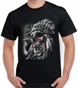 Badass Jewelry Chief Skull Men's Black T-shirt
