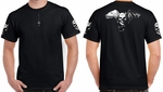 Badass Jewelry Demon Angel Men's Black T-shirt