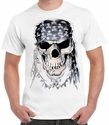 Badass Jewelry Pirate Skull Men's White T-shirt