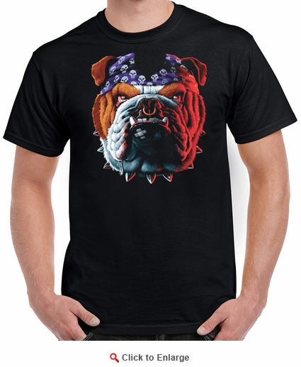 Badass Jewelry Tuff Dog Men's Black T-shirt