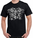 Badass Jewelry Viking Skull Men's Black T-shirt