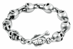 Men's Stainless Steel Phantom Skull Bracelet