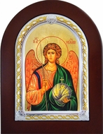 Archangel Michael, Serigraph   Orthodox  Icon in Wooden Frame