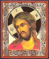 Christ Crowned with Thorns,  Orthodox Mini  Icon