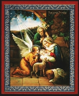 Nativity of Christ with Angel, Orthodox Mini Icon