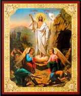 Resurrection of Christ, Christian Orthodox Mini Icon