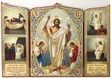 Resurrection of Christ Triptych Icon
