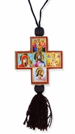 Wooden Cross with Micro  Icons on Rope