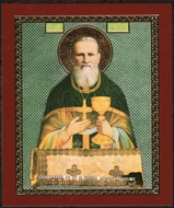 Saint John of Kronstadt , Orthodox Christian Mini Icon