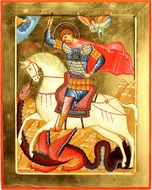 St. George,  Orthodox Christian Hand Painted Icon
