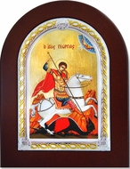 St. George, Serigraph   Orthodox  Icon in Wooden Frame