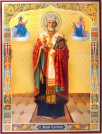 St. Nicholas the Wonderworker, Orthodox Gold & Silver Foiled Icon