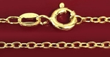 """Sterling Silver 925 Stamped, Gold Plated Chain, 18"""" , 20"""""""