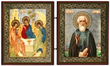 The Old Testament Trinity and  St Sergey Radonezsky  Diptych