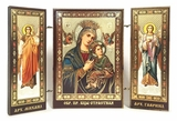 Virgin of Passion / Archangels Michael and Gabriel, Mini Triptych