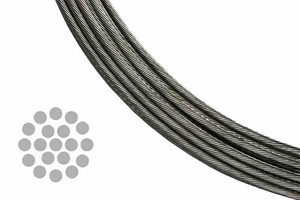 1x19 stainless steel cable for cable railing