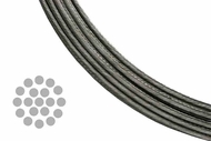 Stainless Steel Cable for Cable Railing Systems - 1x19